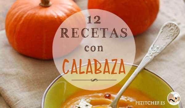 12 recetas con calabaza