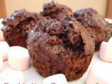 Receta Chocolate chips muffins con marshmallows