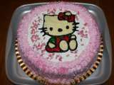 Receta Tarta hello kitty chocolate coloreado
