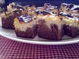 Receta Brownies de chocolate y queso