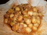 Receta Pindi chana, curry de garbanzos