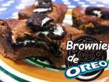 Receta Brownies de chocolate con oreo