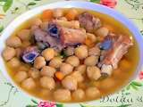 Receta Garbanzos con costillas