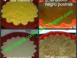 Receta Tarta tres chocolates con base de natillas