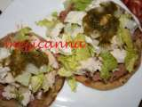 Receta Sopes de pollo