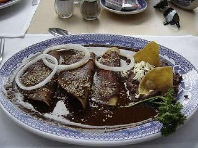 Enchiladas de mole con pollo, Receta Petitchef