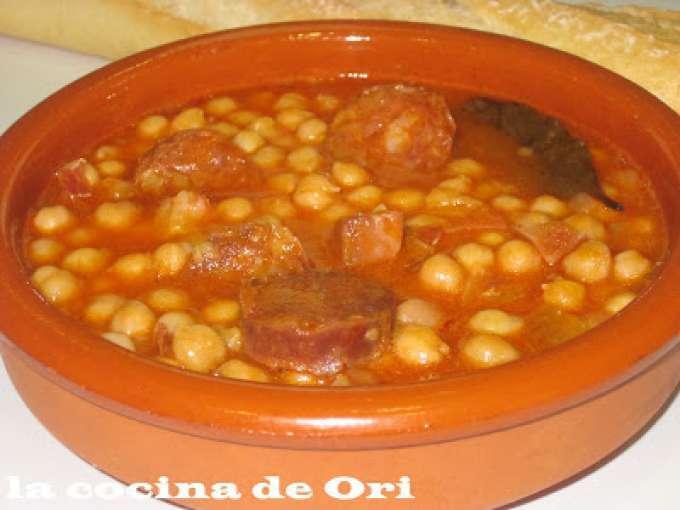 Garbanzos guisados con chorizo y jamon receta petitchef - Como hacer garbanzos guisados ...