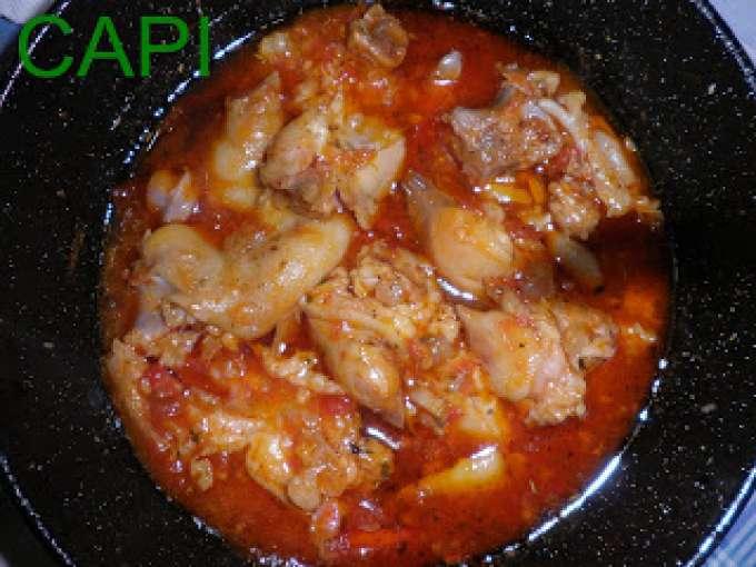 Manitas de cerdo con tomate or gano y ajo receta petitchef for Cocinar manitas de cerdo