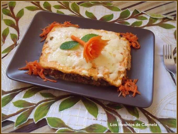 Lasa a de lentejas con bechamel de zanahoria receta petitchef - Bechamel con nata para cocinar ...