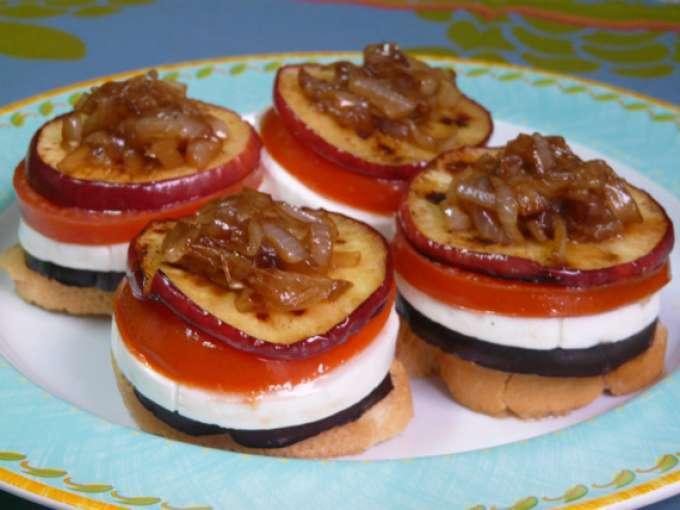 Milhojas de verdura y queso fresco receta petitchef for Tapas frias para fiestas