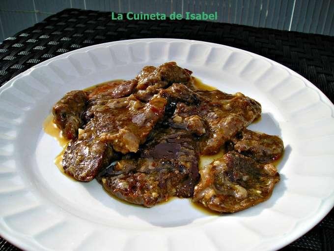 Fricand de vedella amb rovellons receta petitchef - Vedella amb bolets olla express ...