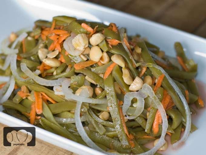Ensalada de jud as verdes y almendras receta petitchef - Ensalada de judias verdes arguinano ...