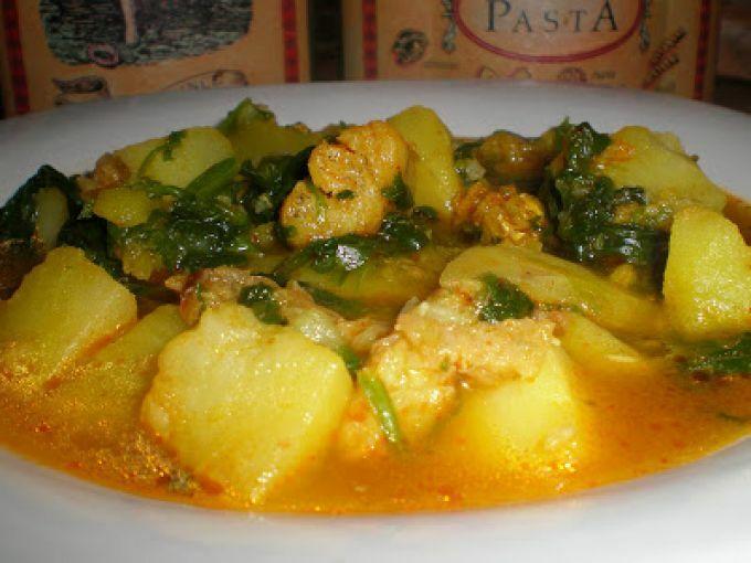 Patatas con espinacas y bacalao receta petitchef - Bacalao con garbanzos y patatas ...
