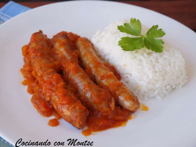 Salchichas con salsa de tomate receta petitchef - Salsa de tomate y nata ...