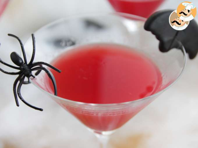 Cocktail sangriento Halloween, sin alcohol