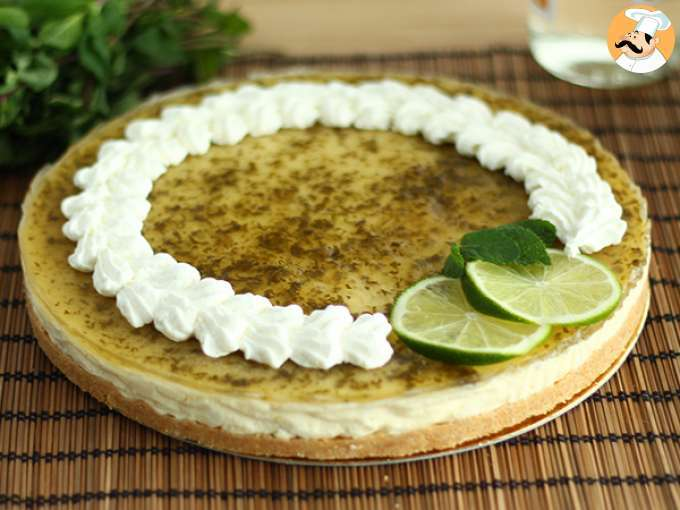 Cheesecake de mojito refrescante
