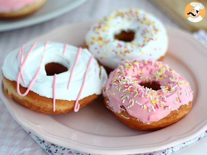 Donuts americanos con glaseado