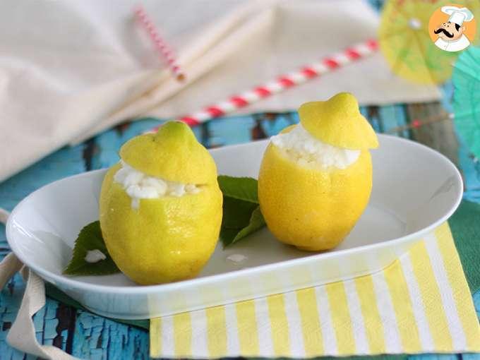 Limón helado, postre refrescante