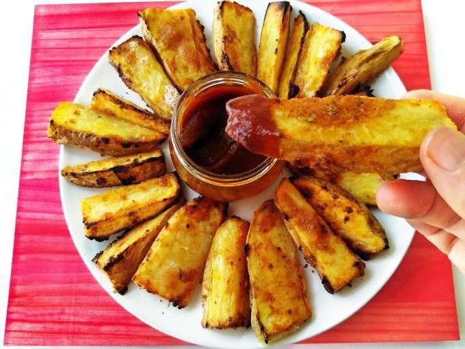 Patatas gajo asadas en churrasquera {o grill de gas}