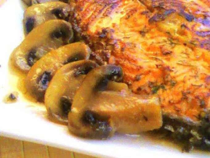 Salm n con champi ones almejas y salsa de limon receta - Salmon con champinones ...