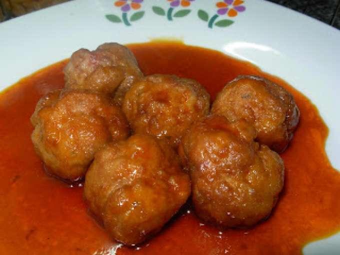 Albondigas en salsa agridulce receta petitchef - Acompanamiento para albondigas ...