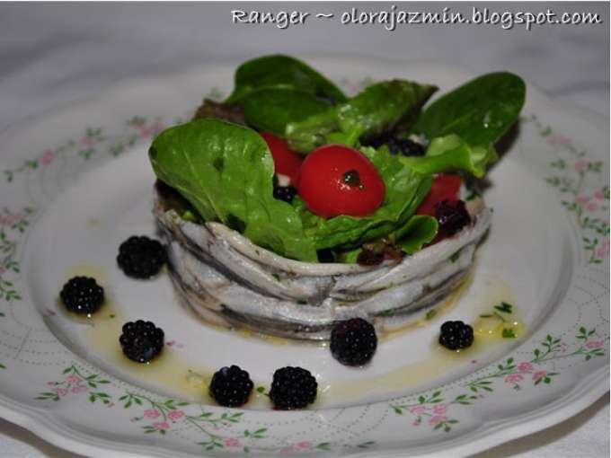 Boquerones en vinagre con ensalada receta petitchef - Calorias boquerones en vinagre ...