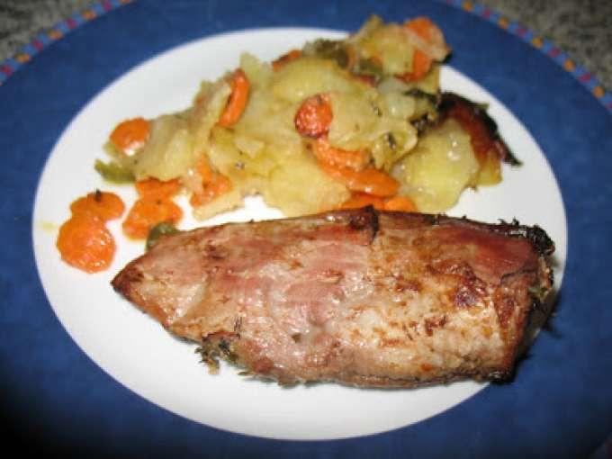 Solomillo de cerdo al horno con verduras receta petitchef - Solomillo a la pimienta al horno ...