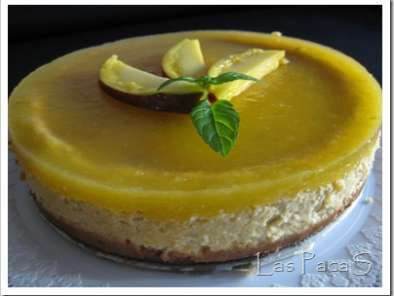 Receta Cheese cake de mango (thermomix)