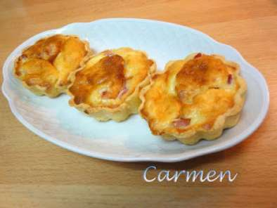 Receta Mini quiché lorraine light