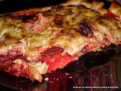 Receta Tarta rosa de remolachas / tarte rose aux betteraves rouges