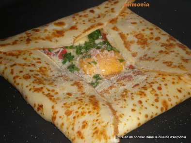 Receta Crepes curry