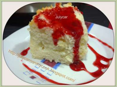 Receta Angel food cake de almendra olla gm d