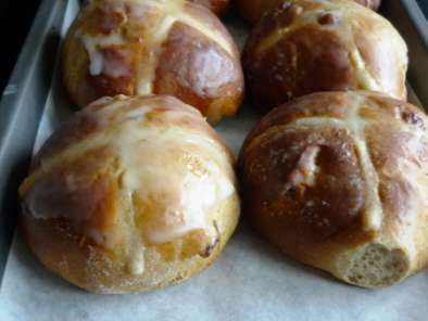 Receta Hot cross buns o pan de pascua