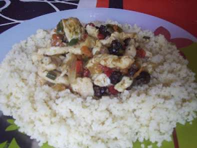 Receta Cous cous con pollo al curry