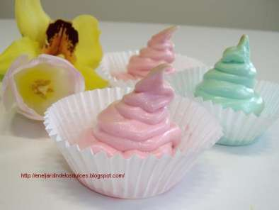 Receta Merenguitos, merengue italiano de colores
