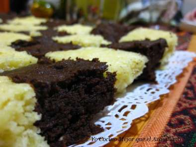 Receta Brownie de chocolate (microondas)
