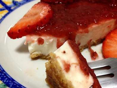 Receta Strawberry cheesecake o tarta de queso philadelphia