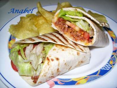 Receta Wraps cheeseburger a la parilla