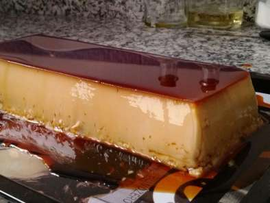 Receta Flan de chocolate blanco
