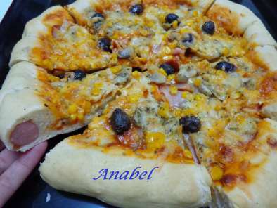 Receta Pizza hot dog american