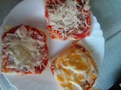 Receta Pizza de pan bimbo