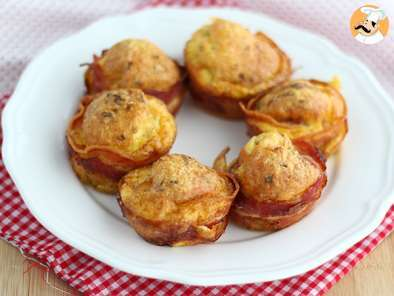 Receta Muffins de bacon con queso express