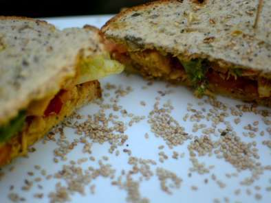 Receta Sándwich de pollo al curry