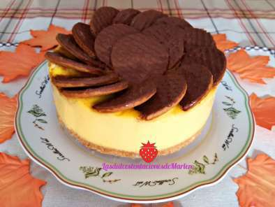 Receta Tarta de natillas con galletas de chocolate