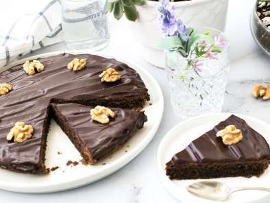 Receta Tarta de nueces y chocolate