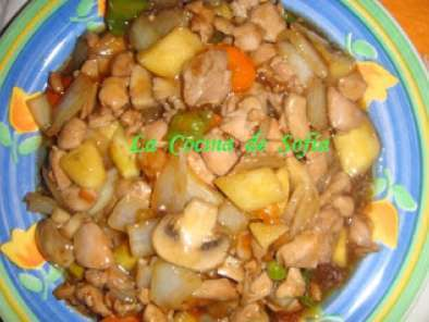 Receta Pollo con almendras (china)