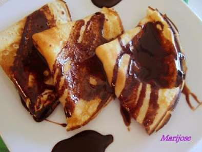 Receta Crepes con sirope de chocolate