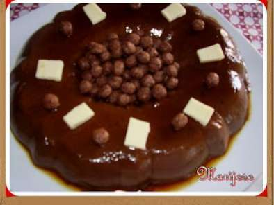 Receta Flan de chocolate facil...