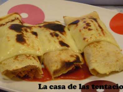 Receta Crepes de pollo
