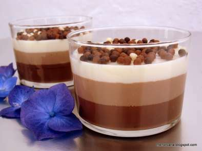 Receta Vasitos tres chocolates